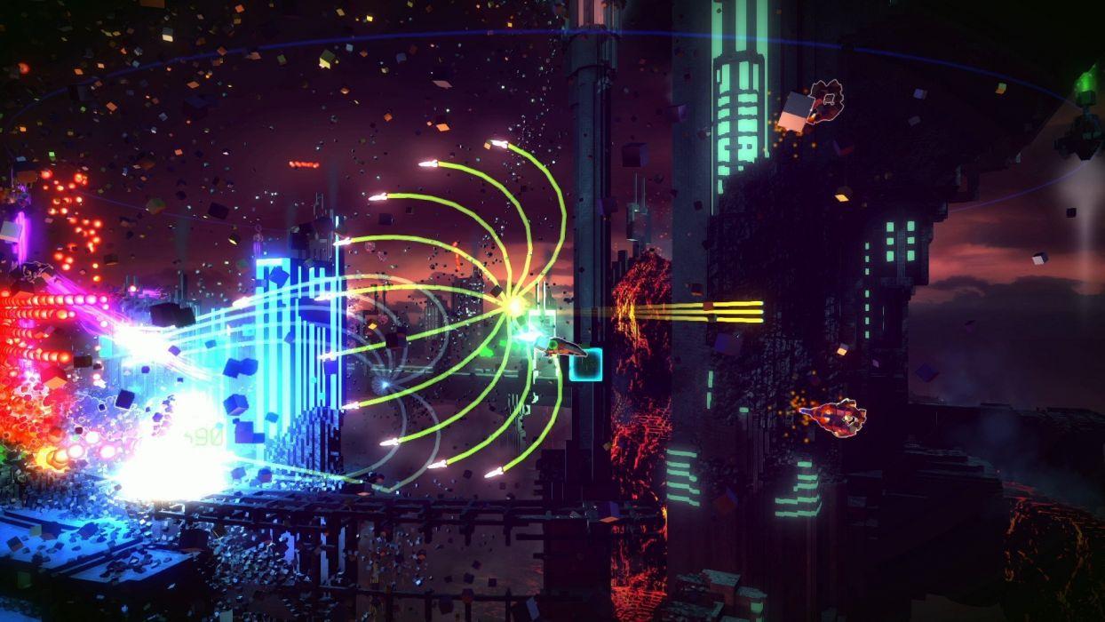 RESOGUN shooter action sci-fi battle psychedelic (17) wallpaper