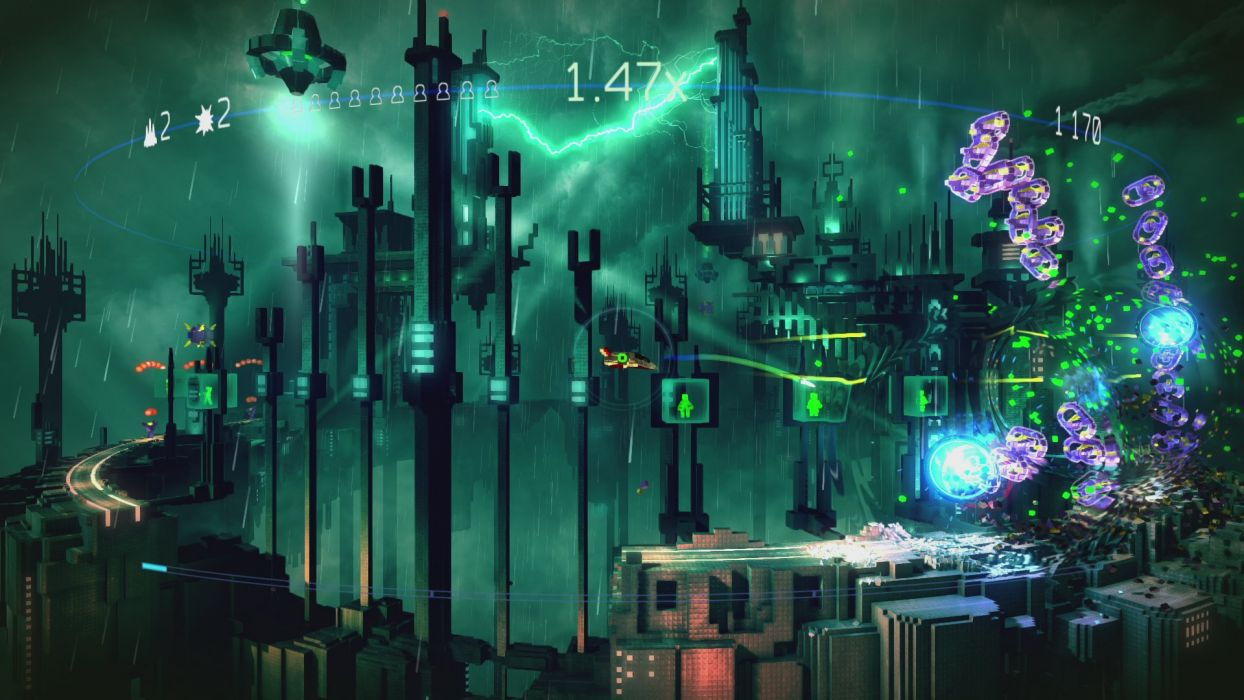 RESOGUN shooter action sci-fi battle psychedelic (13) wallpaper