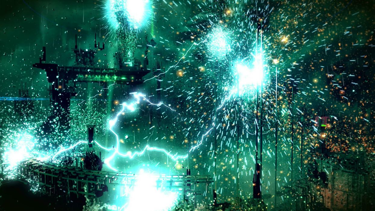 RESOGUN shooter action sci-fi battle psychedelic (15) wallpaper