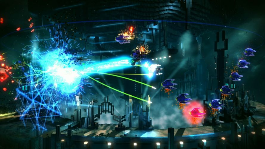 RESOGUN shooter action sci-fi battle psychedelic (19) wallpaper