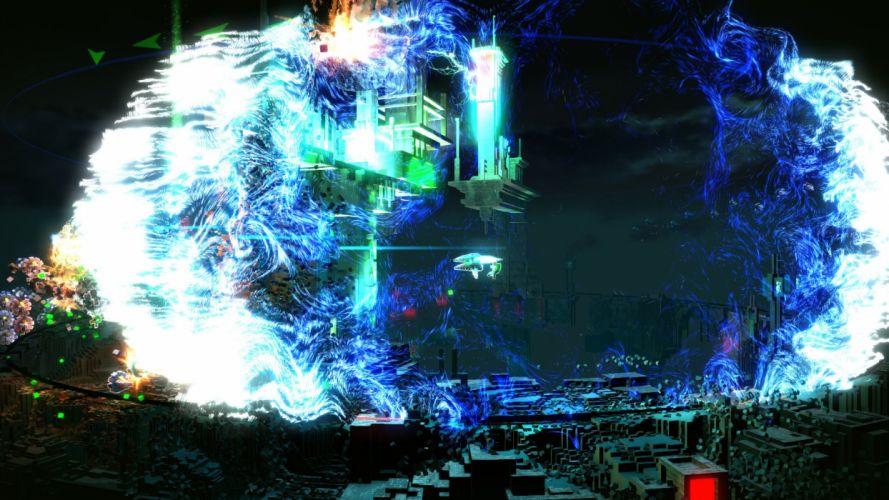 RESOGUN shooter action sci-fi battle psychedelic (23) wallpaper
