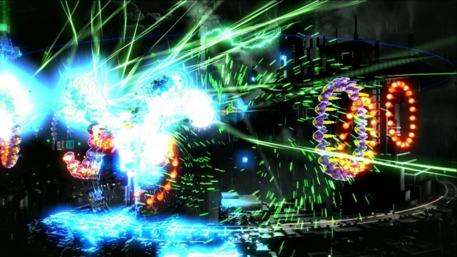 RESOGUN shooter action sci-fi battle psychedelic (33) wallpaper