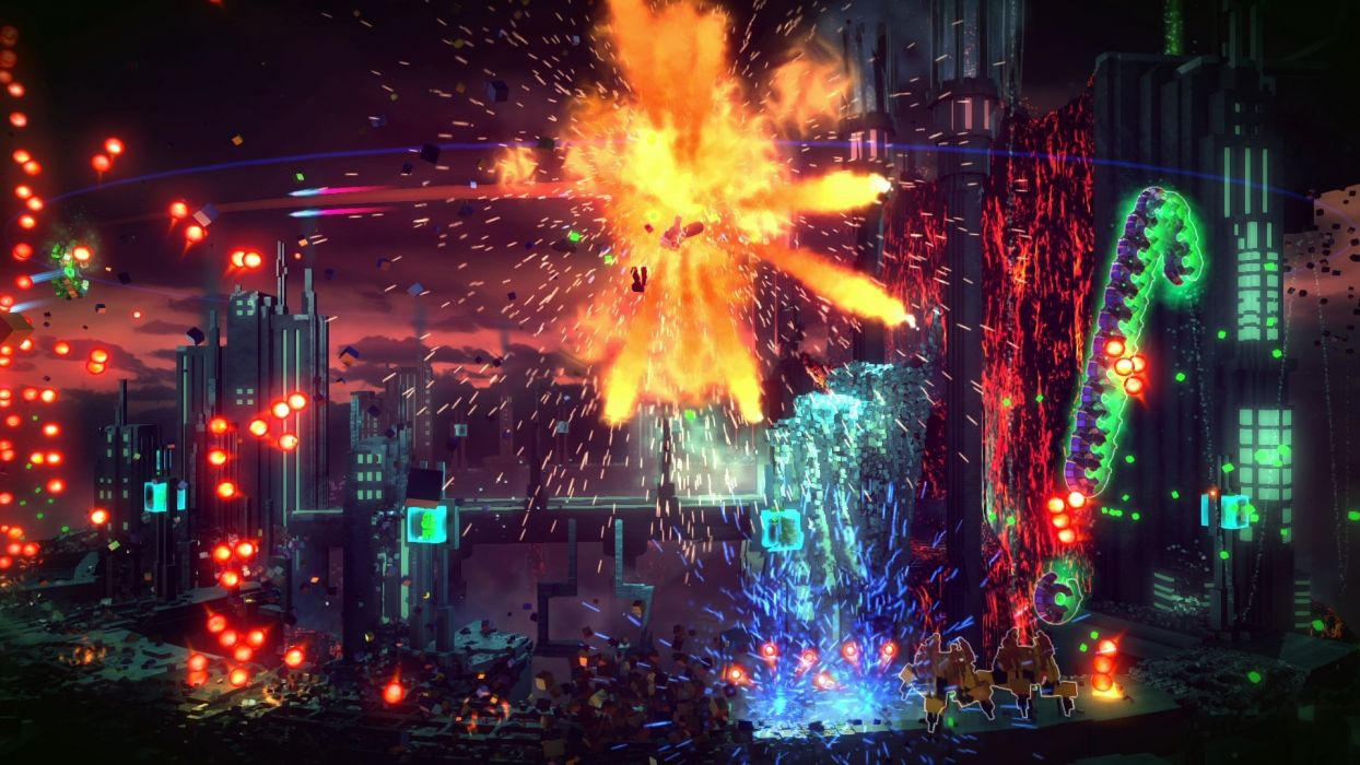 RESOGUN shooter action sci-fi battle psychedelic (35) wallpaper