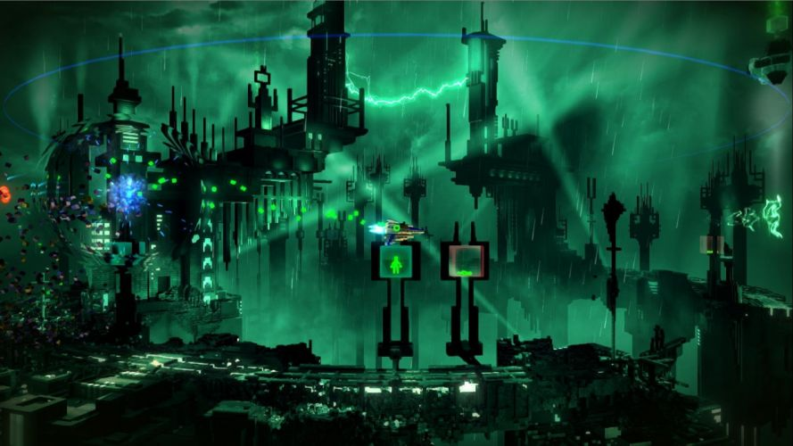 RESOGUN shooter action sci-fi battle psychedelic (43) wallpaper