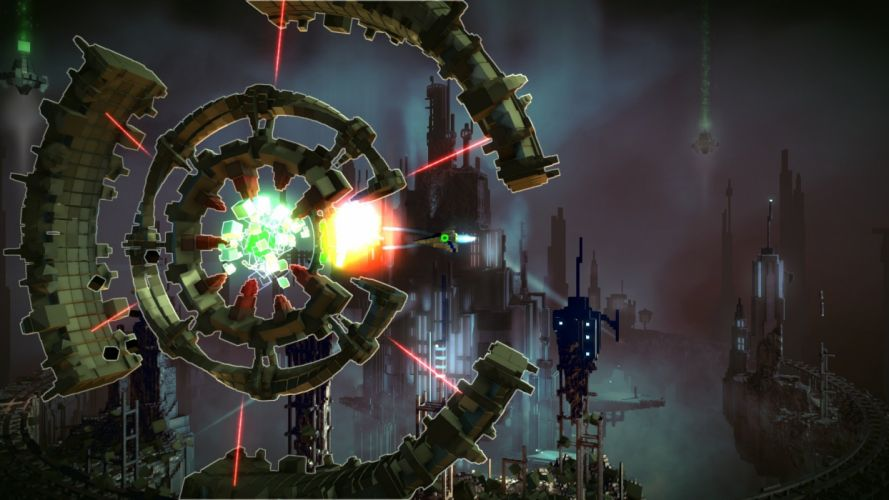 RESOGUN shooter action sci-fi battle psychedelic (48) wallpaper