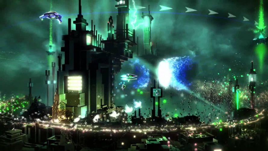 RESOGUN shooter action sci-fi battle psychedelic (57) wallpaper