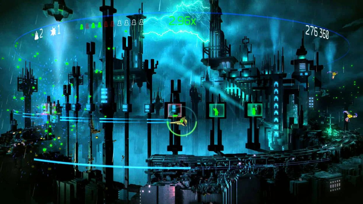 RESOGUN shooter action sci-fi battle psychedelic (56) wallpaper