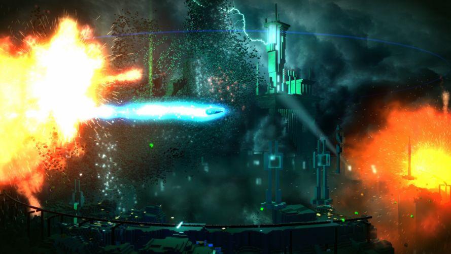 RESOGUN shooter action sci-fi battle psychedelic (50) wallpaper