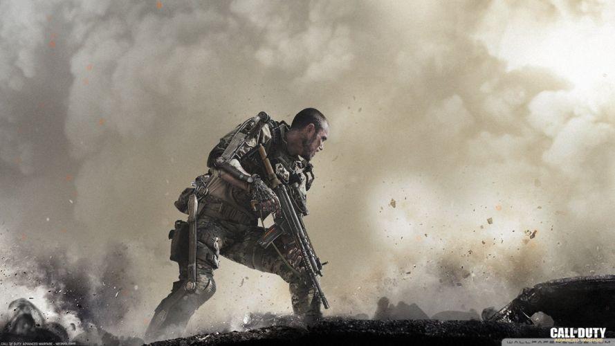 CALL OF DUTY Advanced Warfare battle warrior military action shooter sci-fi (8) wallpaper