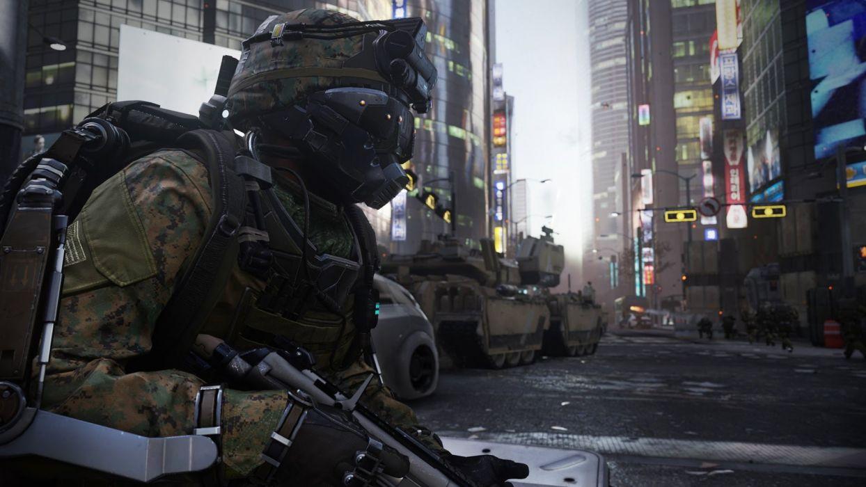 CALL OF DUTY Advanced Warfare battle warrior military action shooter sci-fi (11) wallpaper