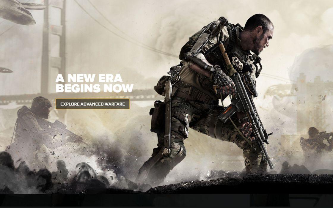 CALL OF DUTY Advanced Warfare battle warrior military action shooter sci-fi (14) wallpaper