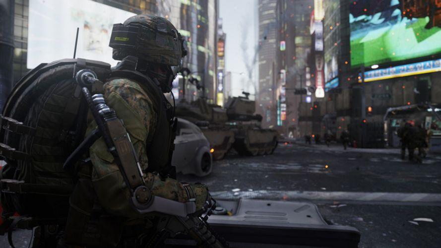 CALL OF DUTY Advanced Warfare battle warrior military action shooter sci-fi (15) wallpaper