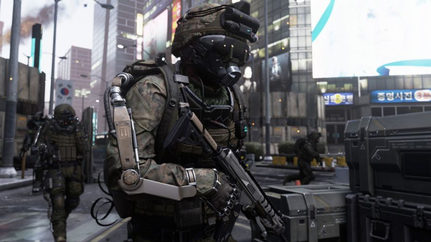 CALL OF DUTY Advanced Warfare battle warrior military action shooter sci-fi (18) wallpaper