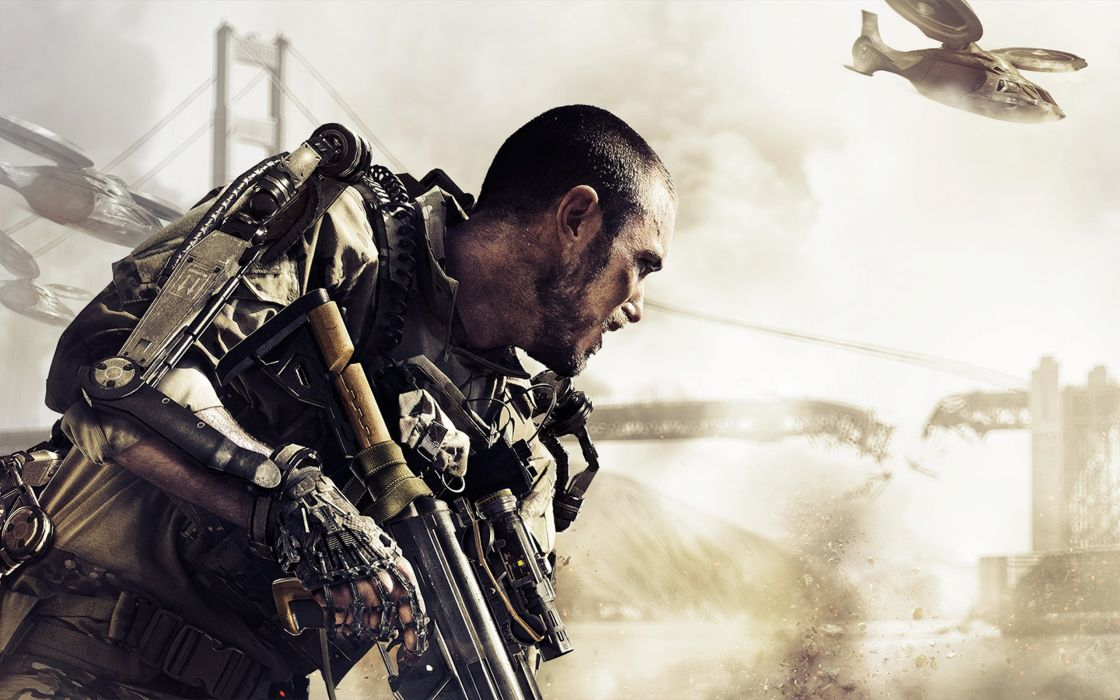 CALL OF DUTY Advanced Warfare battle warrior military action shooter sci-fi (17) wallpaper