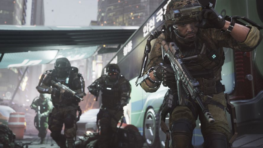 CALL OF DUTY Advanced Warfare battle warrior military action shooter sci-fi (19) wallpaper
