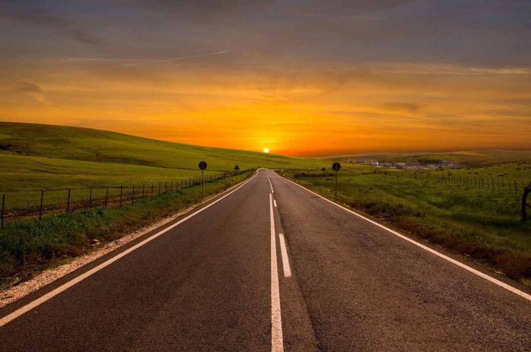 bend the road turn away wallpaper