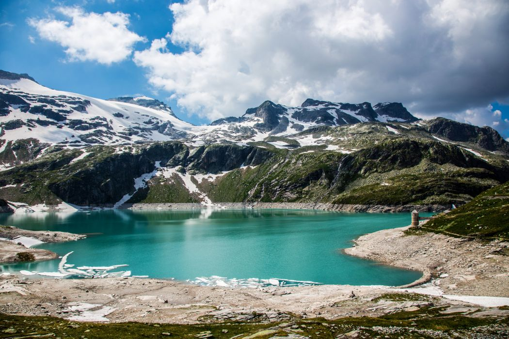 Austria Mountains Lake Alps Nature wallpaper