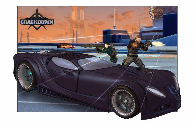 CRACKDOWN shooter sci-fi warrior action adventure (11) wallpaper