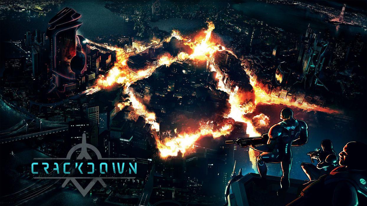 CRACKDOWN shooter sci-fi warrior action adventure (15) wallpaper