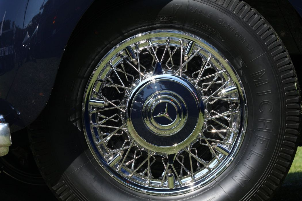 1935 Mercedes Benz 540K Spezial Roadster Car Vehicle Classic Retro Wheel Tire Germany 1536x1024