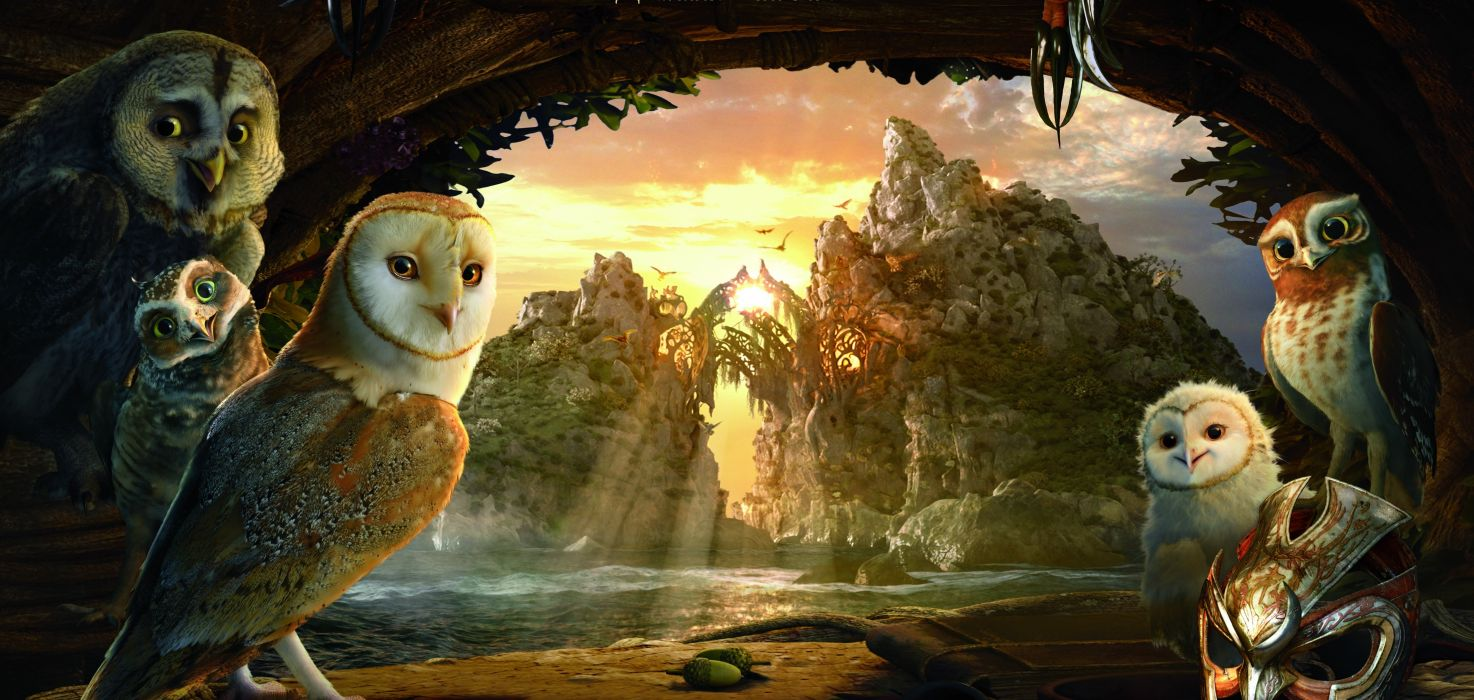 LEGEND GUARDIANS OWLS GAHOOLE animation fantasy adventure family cartoon hoole owl (22) wallpaper