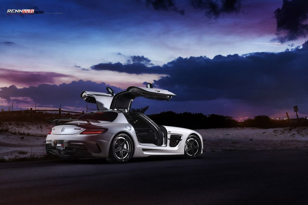 MERCEDES-SLS63-BLACK-SERIE wallpaper
