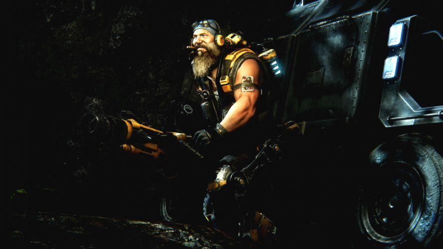 EVOLVE co-op shooter sci-fi fantasy fighting (3) wallpaper