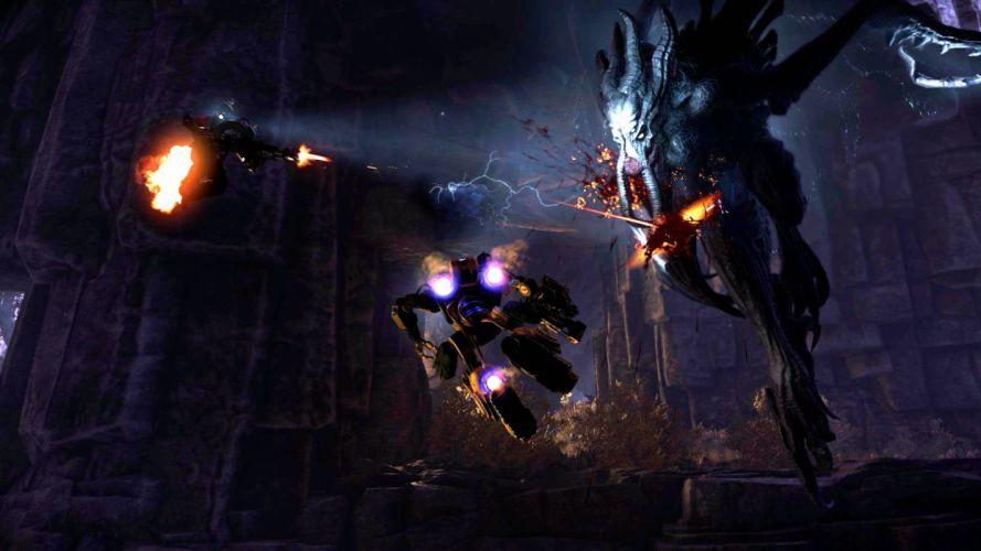 EVOLVE co-op shooter sci-fi fantasy fighting (26) wallpaper