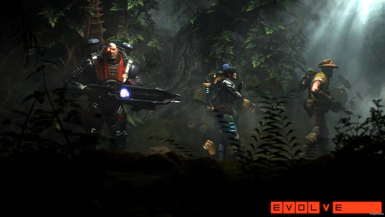 EVOLVE co-op shooter sci-fi fantasy fighting (6) wallpaper