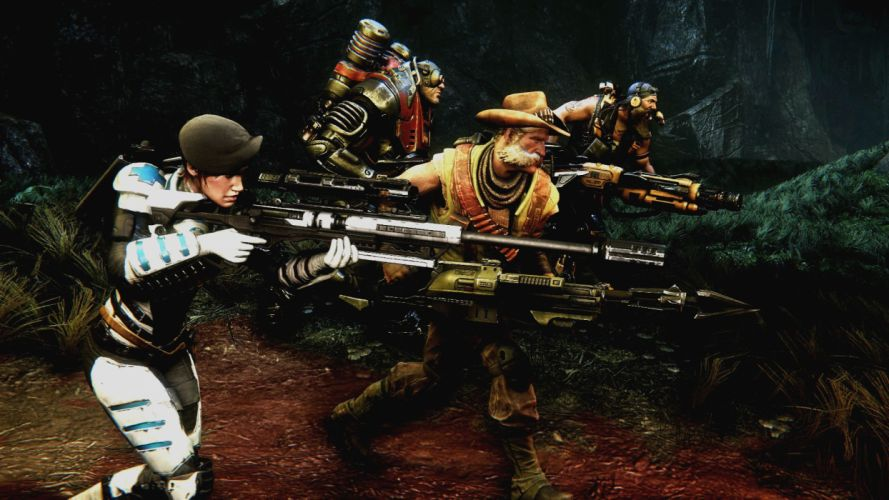 EVOLVE co-op shooter sci-fi fantasy fighting (29) wallpaper