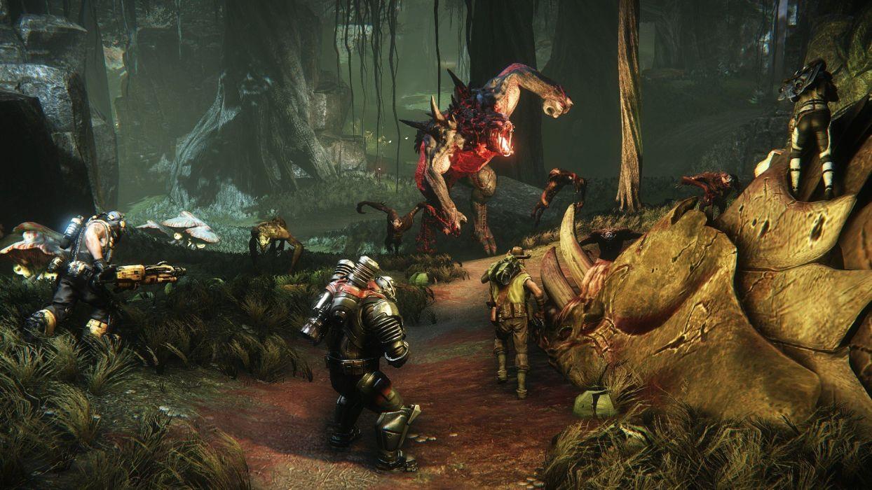 EVOLVE co-op shooter sci-fi fantasy fighting (30) wallpaper