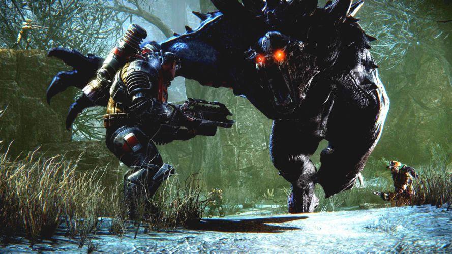 EVOLVE co-op shooter sci-fi fantasy fighting (42) wallpaper