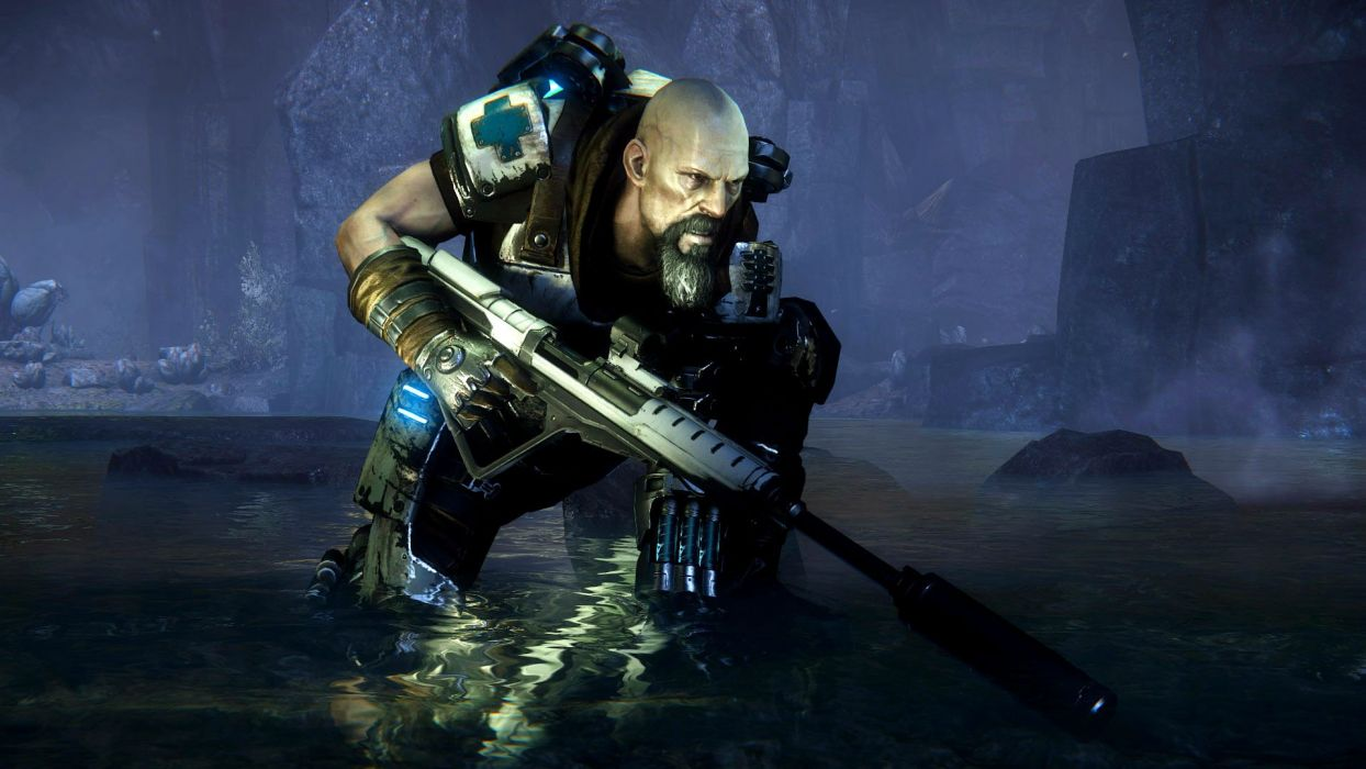 EVOLVE co-op shooter sci-fi fantasy fighting (51) wallpaper