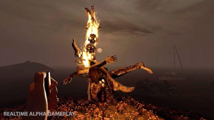 THE FOREST survival horror dark open world microsoft (8) wallpaper