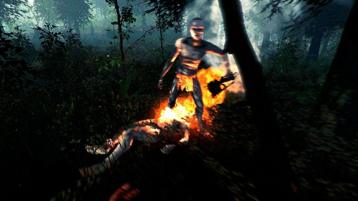 THE FOREST survival horror dark open world microsoft (9) wallpaper