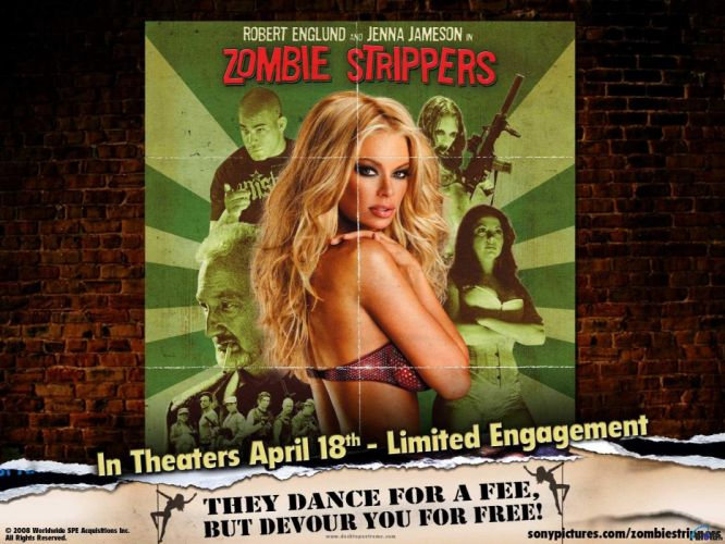 JENNA JAMESON adult actress model sexy babe zombie strippers horror wallpaper