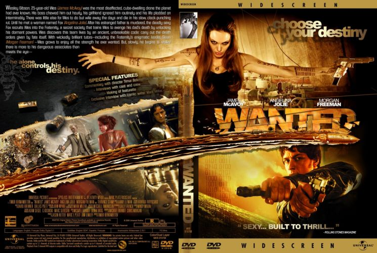 WANTED action crime fantasy sci-fi jolie (3) wallpaper