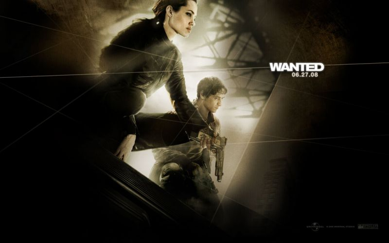 WANTED action crime fantasy sci-fi jolie (6) wallpaper