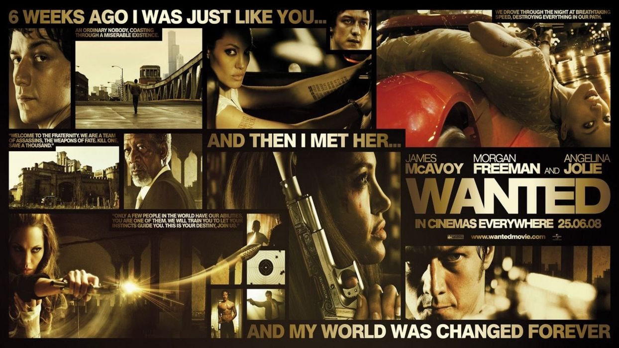 WANTED action crime fantasy sci-fi jolie (15) wallpaper