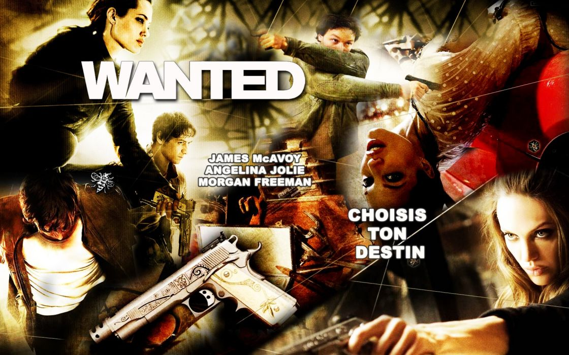 WANTED action crime fantasy sci-fi jolie (14) wallpaper