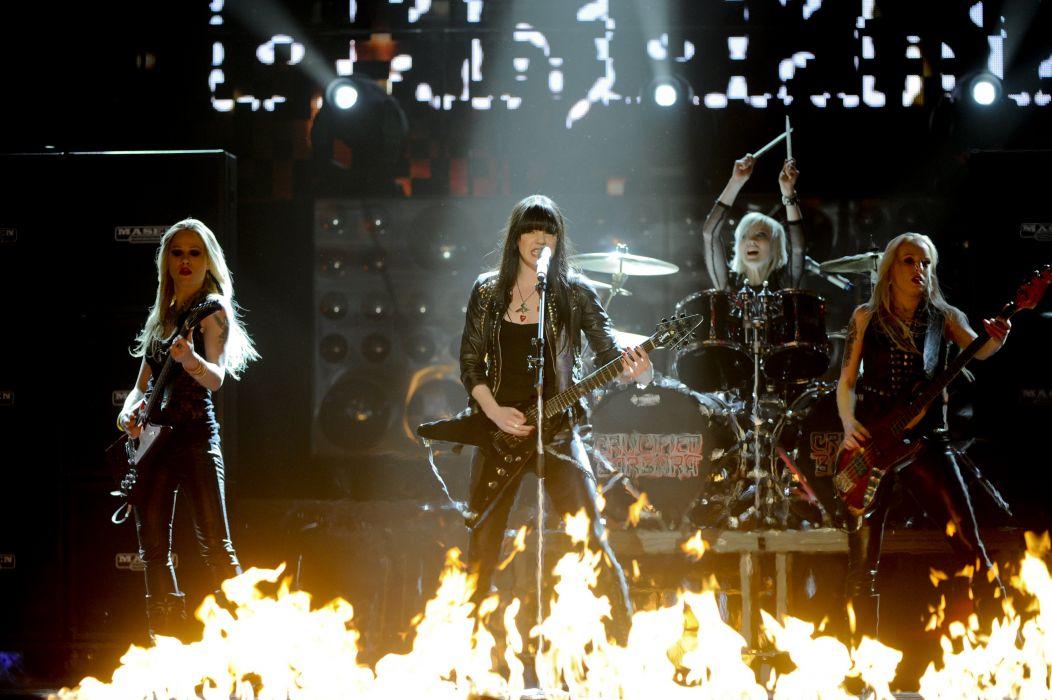 CRUCIFIED BARBARA thrash metal hard rock girls heavy (8) wallpaper