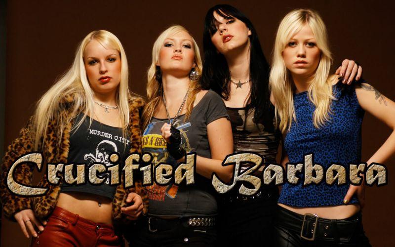 CRUCIFIED BARBARA thrash metal hard rock girls heavy (12) wallpaper
