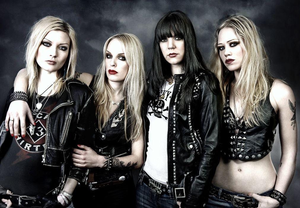CRUCIFIED BARBARA thrash metal hard rock girls heavy (10) wallpaper