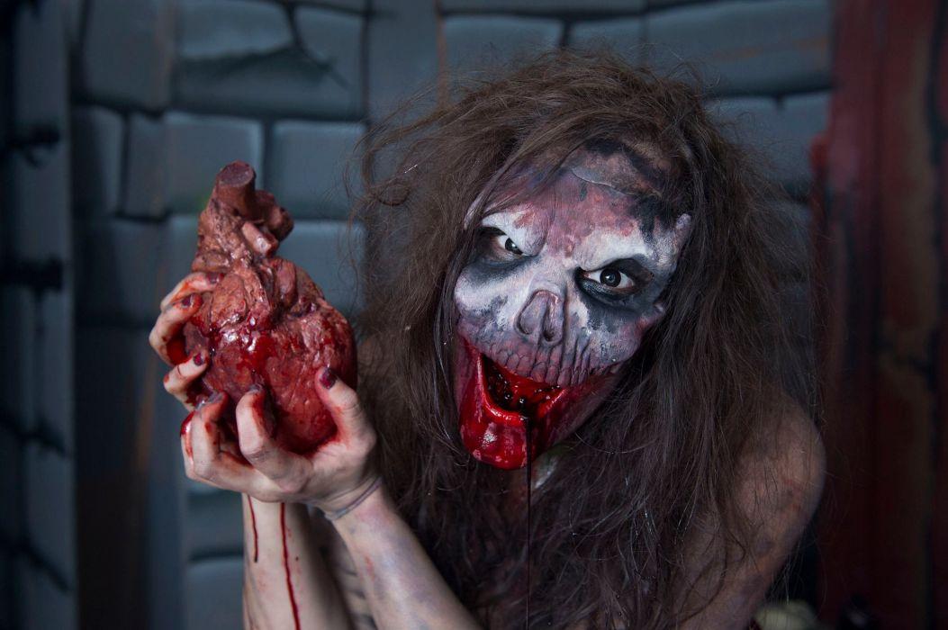 dark blood horror monster halloween wallpaper
