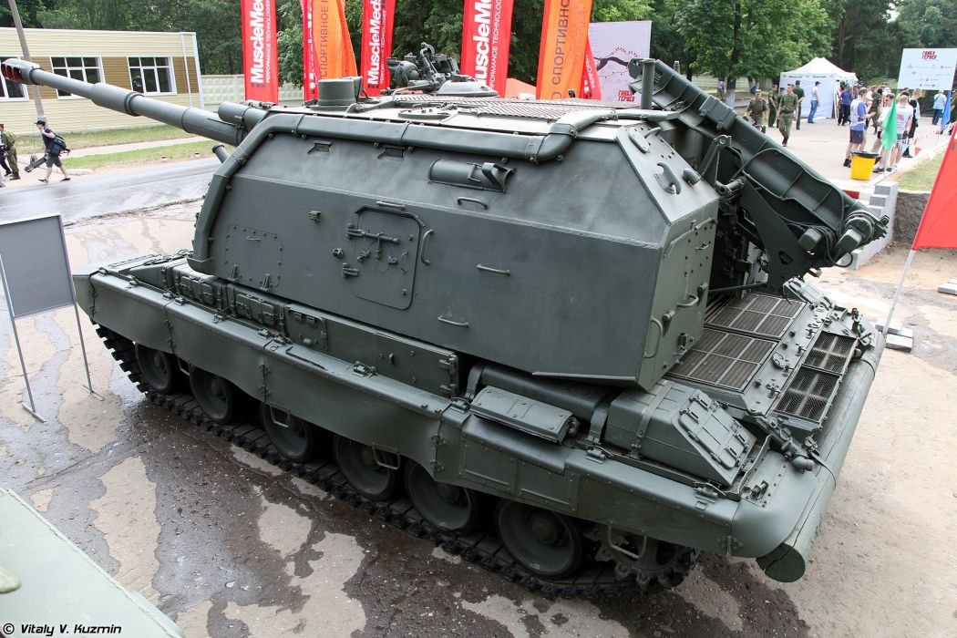 Russian Red Star Russia Vehicle Military Army Combat Armored Howtizer 2S19M1-Msta-S 4000x2667 (3) wallpaper