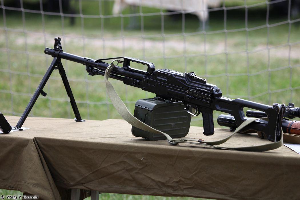 Russian Red Star Russia Wepon military army PKP-Pecheneg machine-gun 4000x2667 (1) wallpaper