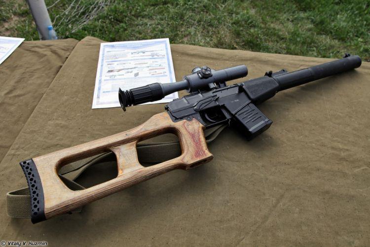 Russian Red Star Russia Wepon military army VSS-Vintorez sniper rifle 4000x2667 (1) wallpaper