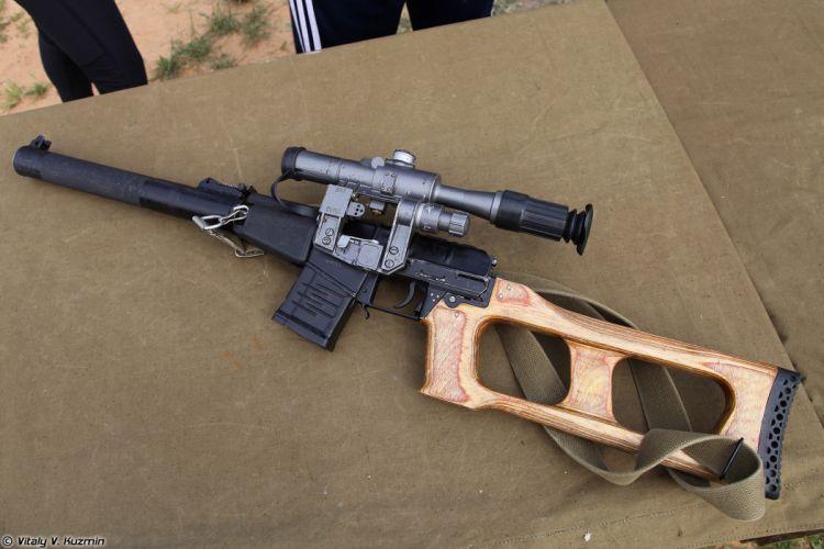 Russian Red Star Russia Wepon military army VSS-Vintorez sniper rifle 4000x2667 (3) wallpaper
