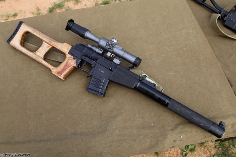 Russian Red Star Russia Wepon military army VSS-Vintorez sniper rifle 4000x2667 (5) wallpaper