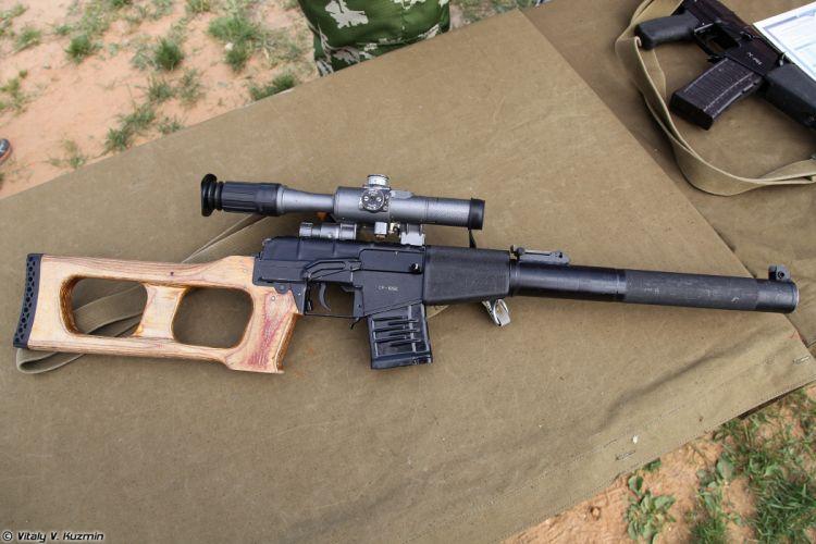 Russian Red Star Russia Wepon military army VSS-Vintorez sniper rifle 4000x2667 (6) wallpaper